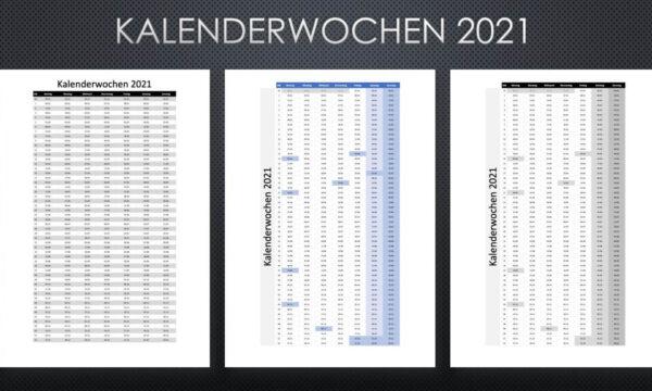 Kalenderwochen 2021 Schweiz (Excel & PDF)   Schweiz ...